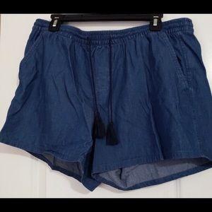 Old Navy Soft Denim Drawstring Shorts Sz Large